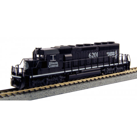 Kato N - Locomotiva SD40-2 Illinois Central #6201: 176-4957