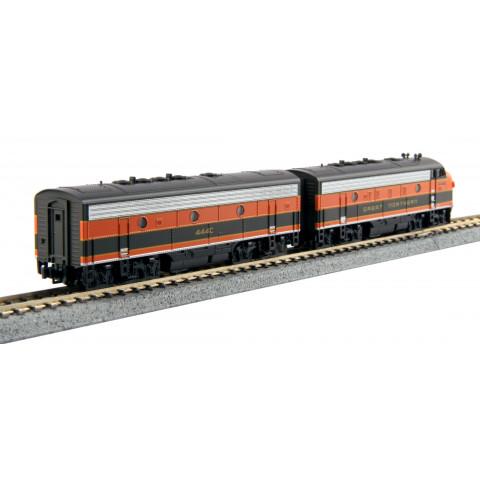 Kato N - Locomotivas F7A + F7B, Great Northern #444C + #444D: 106-0421
