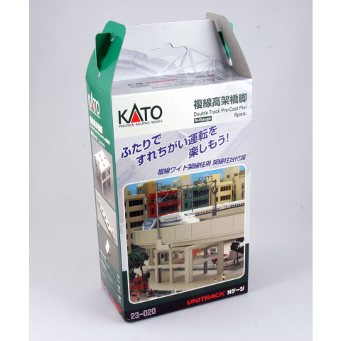 Kato N - Píer para Pista Dupla Elevada (Double Track Pier Set) : 23-020