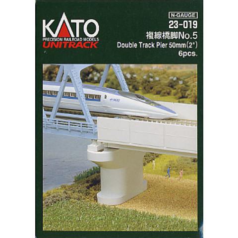 Kato N - Pilares para Ponte Dupla - 50mm: 23-019