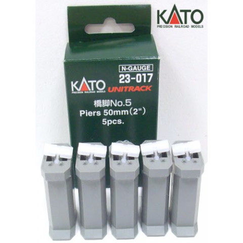 Kato N - Pilares para Ponte Simples - 50mm: 23-017