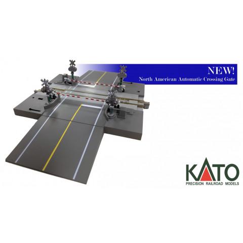 "Kato N - ""Road Crossing - US Style"" com cancela automática e som.: 20-652-1"