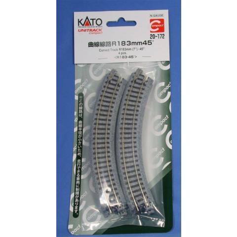 "Kato N - Trilho Curva ""Compact"" - R183, 45,0° - 20-172"