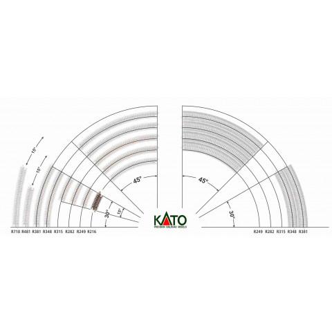 Kato N - Trilho Curva - R216, 15,0° - 20-171