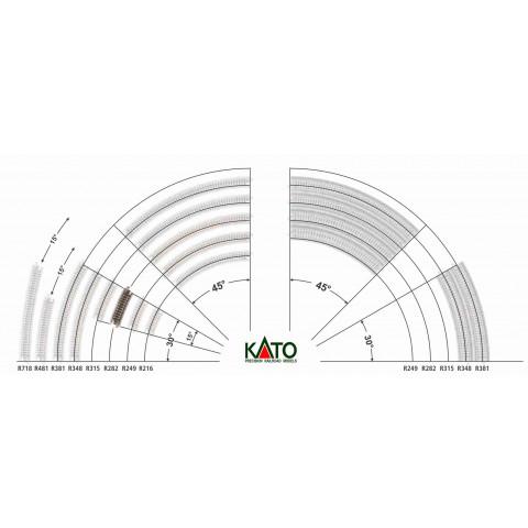 Kato N - Trilho Curva - R282, 15,0° - 20-111