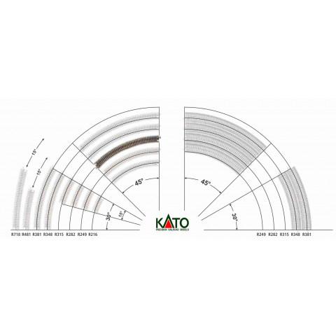 Kato N - Trilho Curva - R282, 45,0°: 20-110