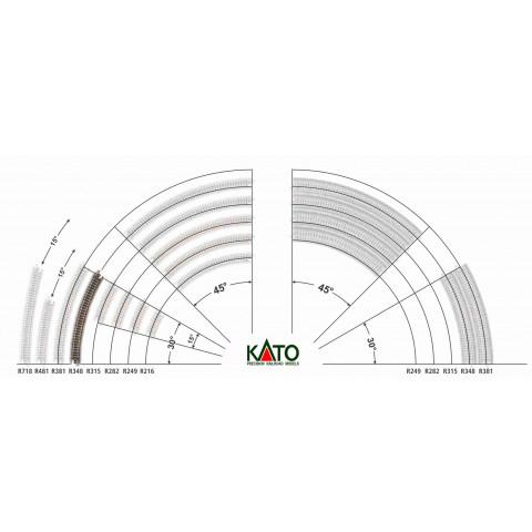 Kato N - Trilho Curva - R348, 30,0° - 20-130