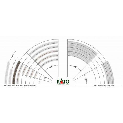 Kato N - Trilho Curva - R381, 30,0° - 20-140