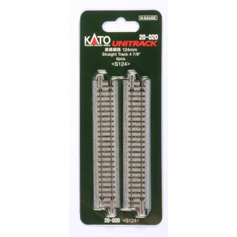 Kato N - Trilho Reta Simples - 124mm: 20-020