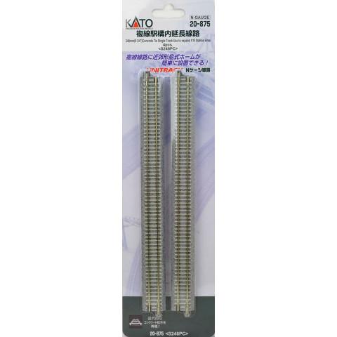 """Kato N - Trilho Reta Simples """"Concrete Tie"""", dormentes em concreto - 248mm: 20-875"""