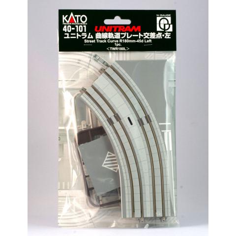 Kato N UNITRAM - Trilho Curva - R180mm, 45°: 40-101