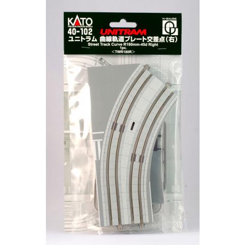 Kato N UNITRAM - Trilho Curva - R180mm, 45°: 40-102