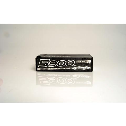 Nosram - LiPo HV Shorty 5900mAh Graphene-4 - 135C/65C: 999659