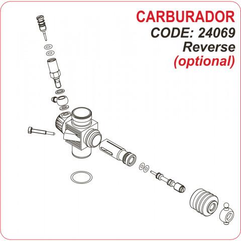 "Novarossi - Carburador ""Reverse"", 3,5cc: NV-24069"