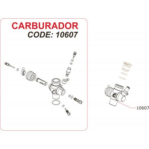"Novarossi - Carburador ""Slide"", 2,1cc: NV-10607"