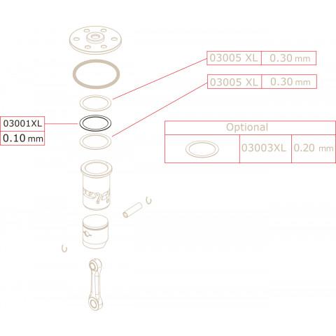 Novarossi - Junta de Cabeçote, 3,5cc: NV-03001XL