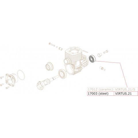 Novarossi - Rolamento em Aço, frente : NV-17003