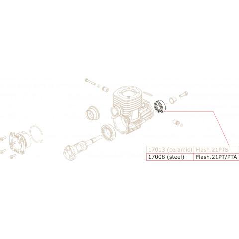 Novarossi - Rolamento em Aço, frente : NV-17008