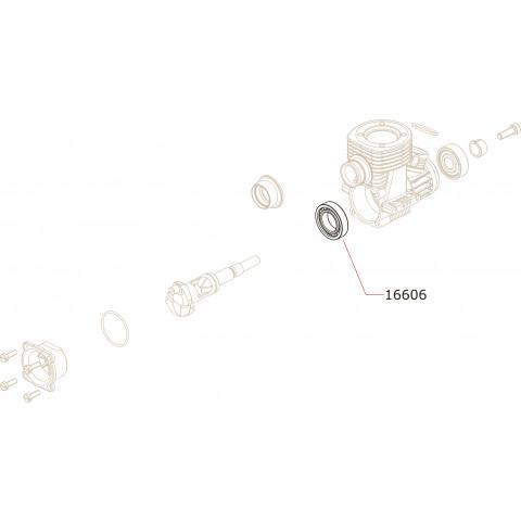Novarossi - Rolamento Tras. Aço: NV-16606
