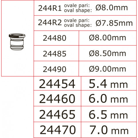 Novarossi - Venturi Ø 5,40mm, Preto, com o-ring: 24454