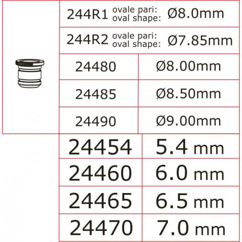 Novarossi - Venturi Oval, Nr.1, Ø 8,00mm, preto, com o-ring: 244R1