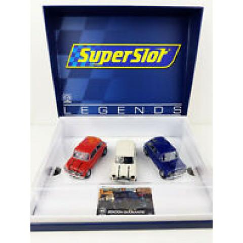 SuperSlot / Scalextric - Set 3 Mini's H4030A - C4030A