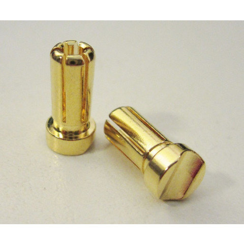 "TQ - Plug ""Bullet"" Gold 5mm (Short) - TQ2509"