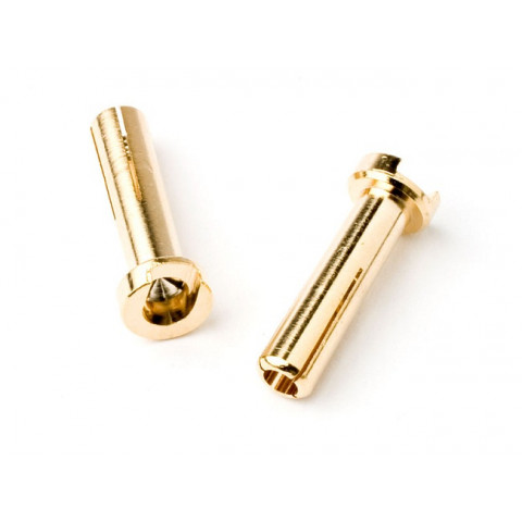 "TQ - Plug ""Bullet"" Gold 4mm (Low Profile) - TQ2501"