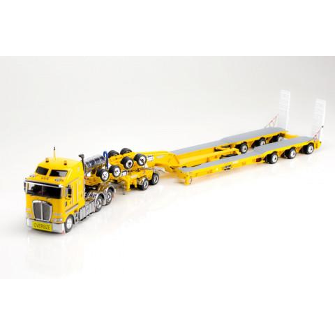 Drake - Kenworth K200 Prime Mover Drake 2x8 Dolly e 3x8 Swingwing Chrome Yellow.