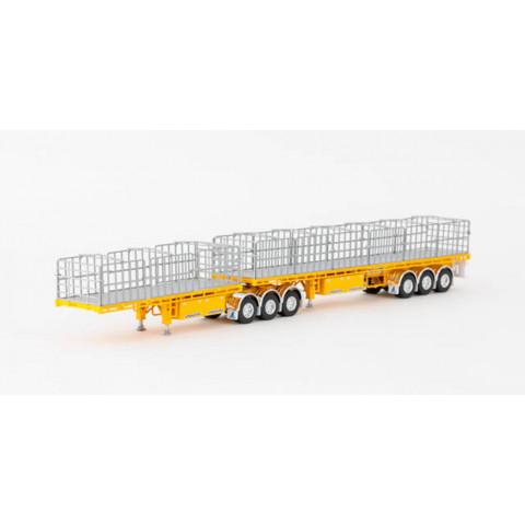Drake - Maxitrans B Double Flat Top - Yellow: ZT09134