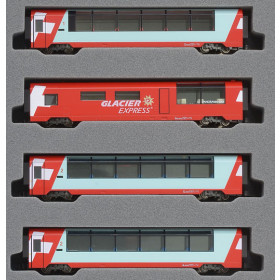 Kato N - Glacier Express 4 Car Add-On Set: 10-1146